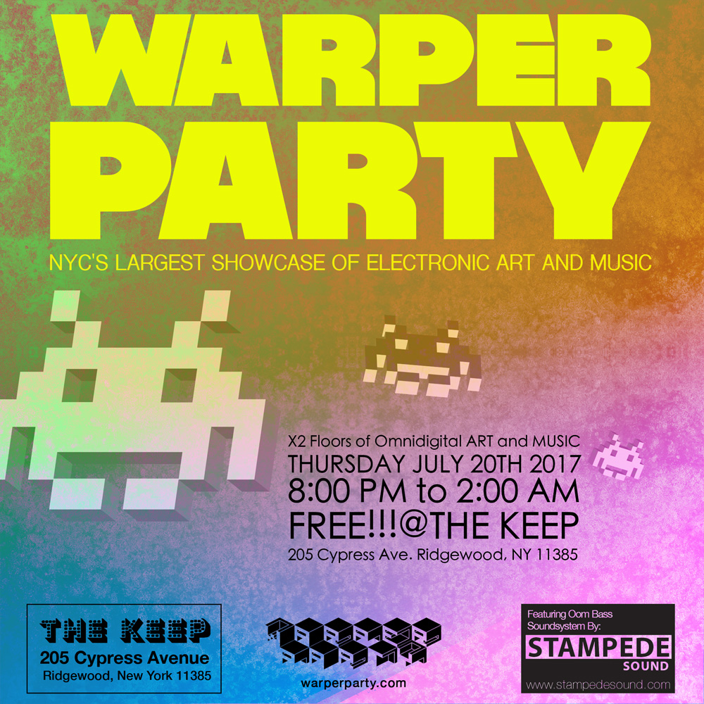 Warper Party Flyer Design by: Nathan Conrad